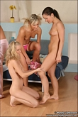 Mandy Lightspeed getting ready with lesbian girls